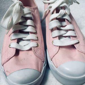 Lauren Ralph Lauren Pink Canvas Sneakers Size 8B